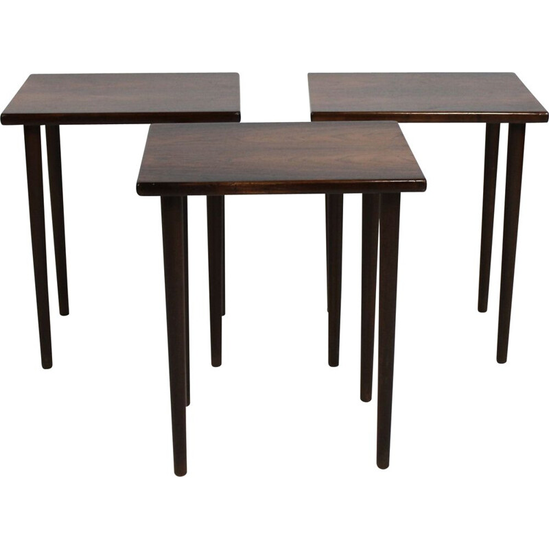 Vintage Nesting table in rosewood Kurt Østervig by Jan Furniture 1960s