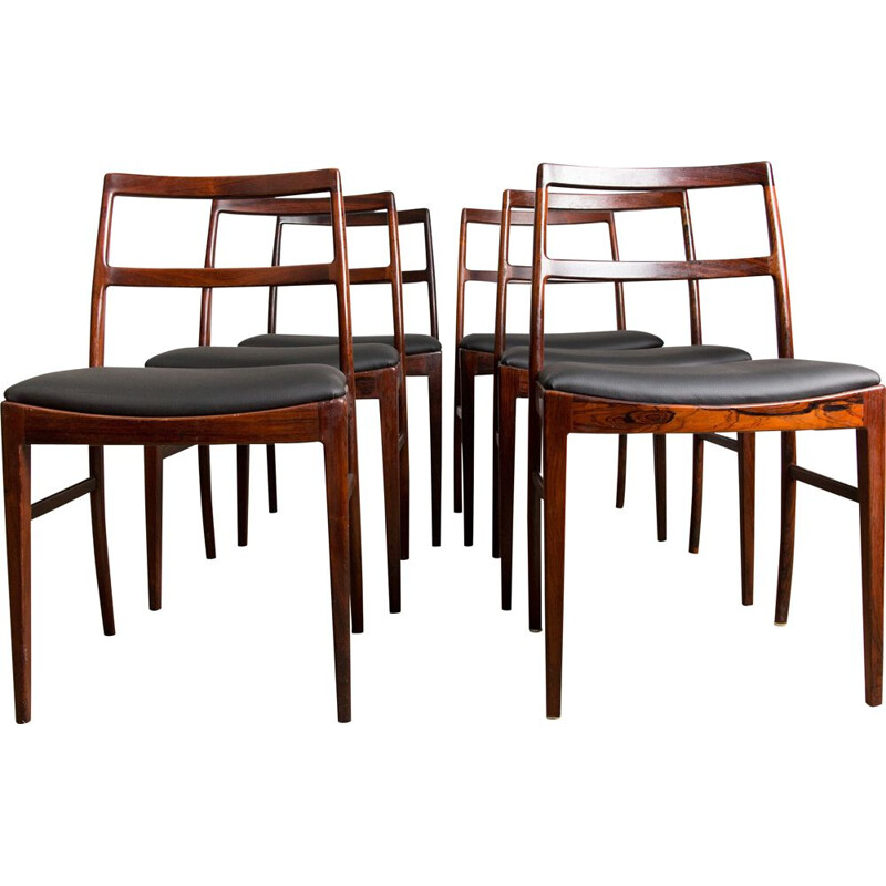 Set of 6 vintage Danish Rio Rosewood chairs model 420 by Arne Vodder 1960