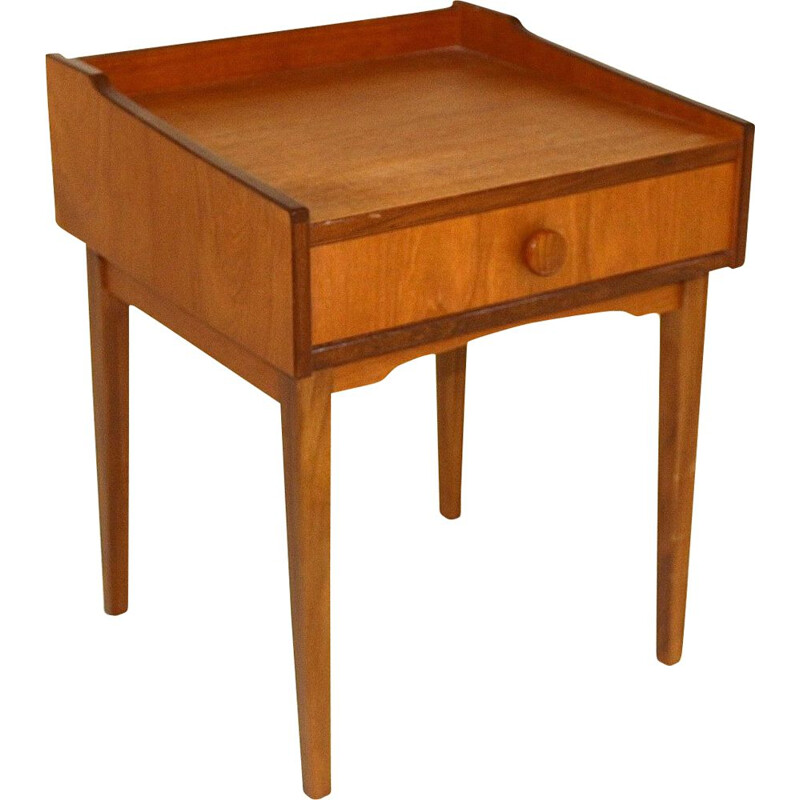 Vintage teak bedside table, Sweden, 1960