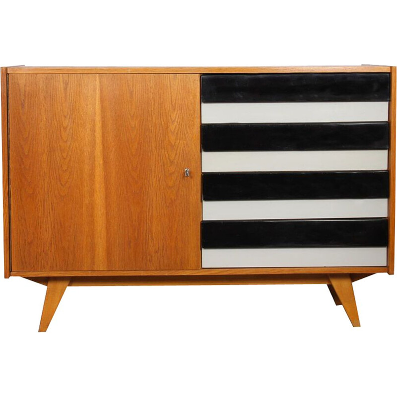 Vintage drawer cabinet by Jiri Jiroutek, model U-458, 1960