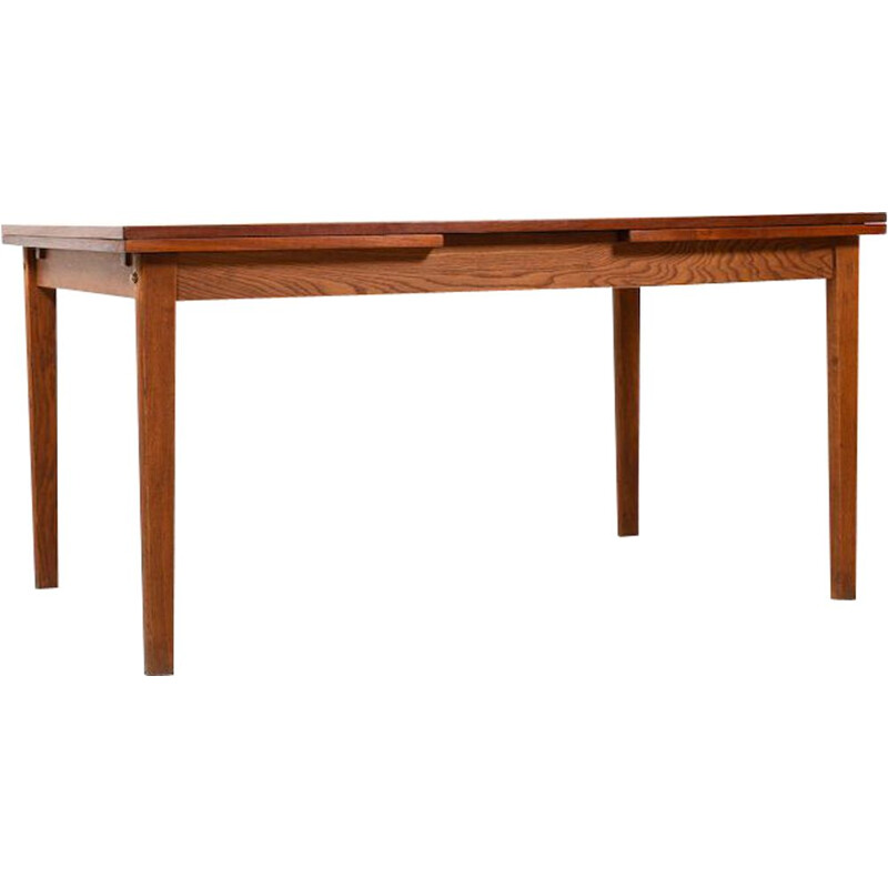 Vintage extendable Dining Table in Teak & Oak by FDB Old Børge Mogensen