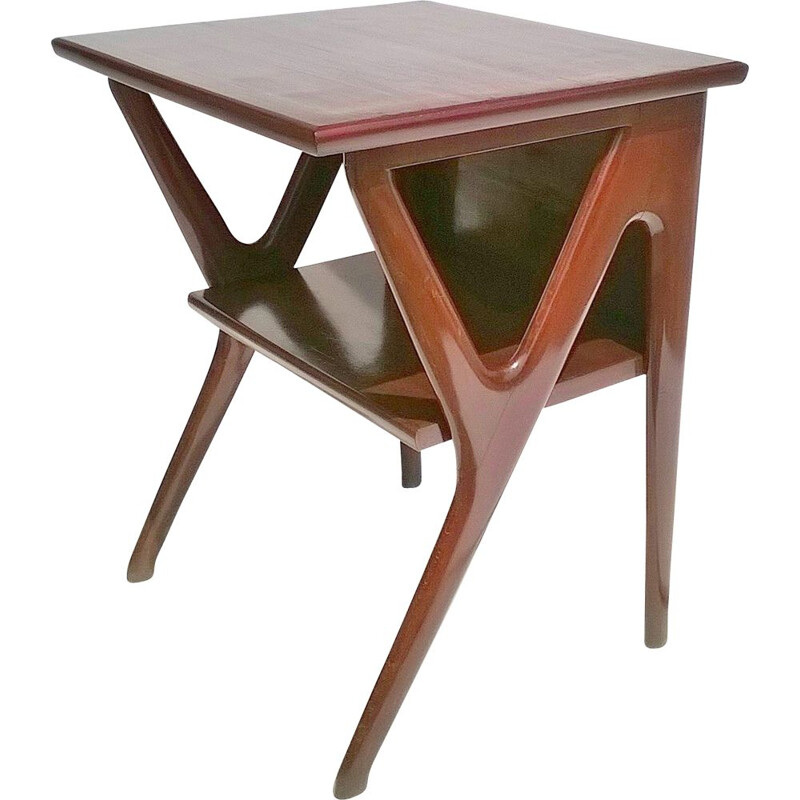 Large vintage Beech Console Table by Ico & Luisa Parisi for De Baggis Italian  1951