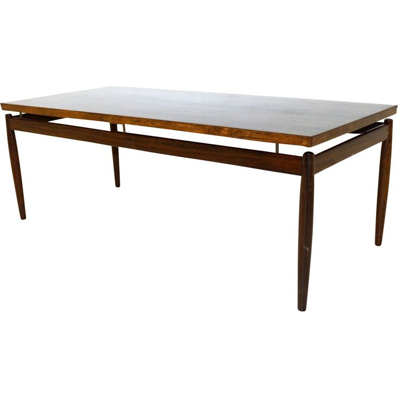 Vintage rosewood coffee table, Grete Jalk for France & Søn, Denmark, 1960