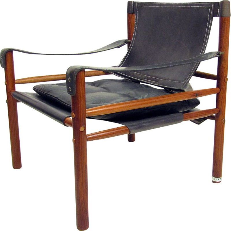 Vintage Rosewood 'Sirocco' Safari Chair By Arne Norell 1960s
