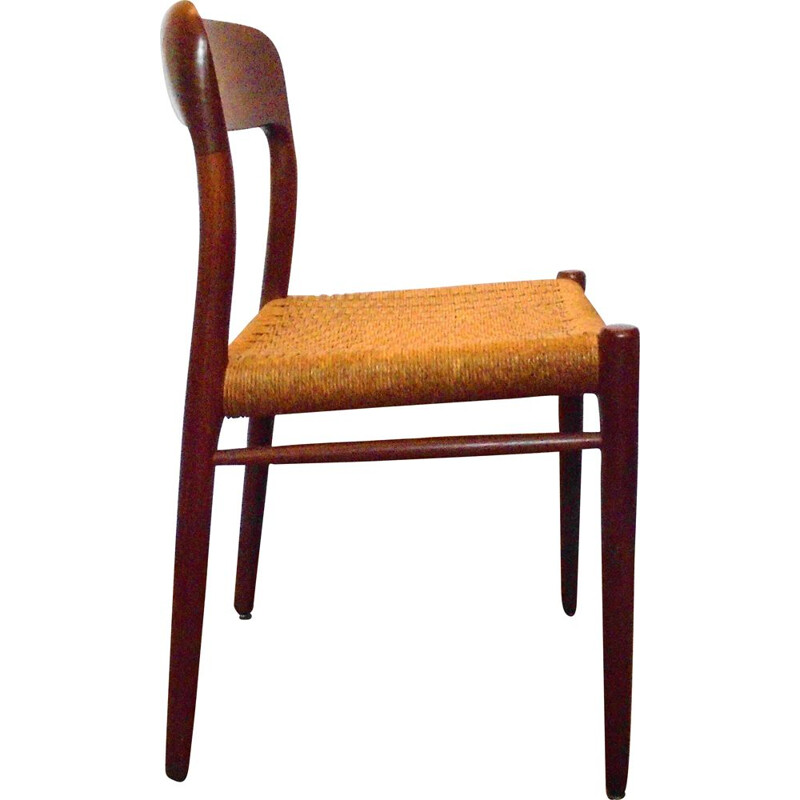 Vintage Niels O.Moller Teak  Chair model 75 Danish 1950