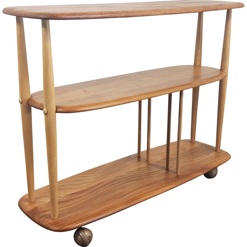 Vintage Bookcase Ercol Trolley 1960s