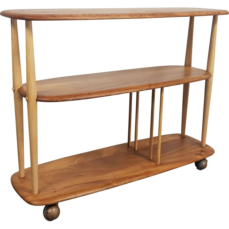 Vintage Bookcase Ercol Trolley, 1960s