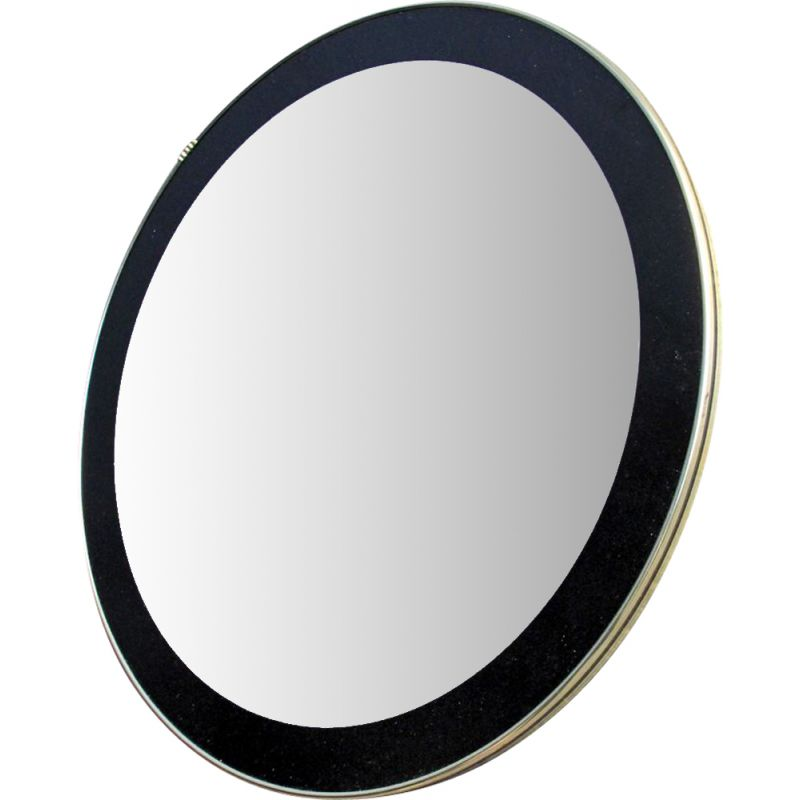 Vintage mirror  round with black frame 1960s