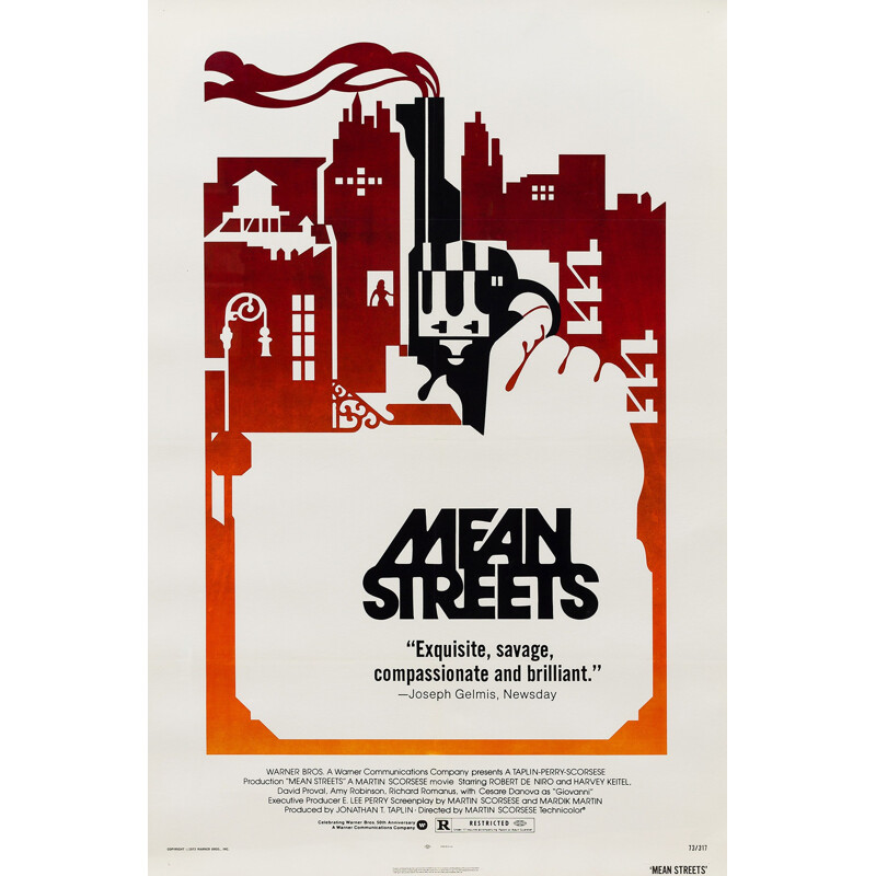 """American Martin Scorsese """"Mean Streets"""" film poster - 1973"""
