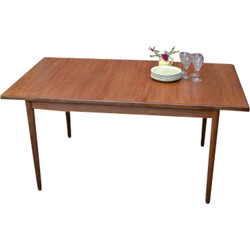 G-Plan dining table with two extension leaves in teak, Ib KOFOD-LARSEN - 1960s
