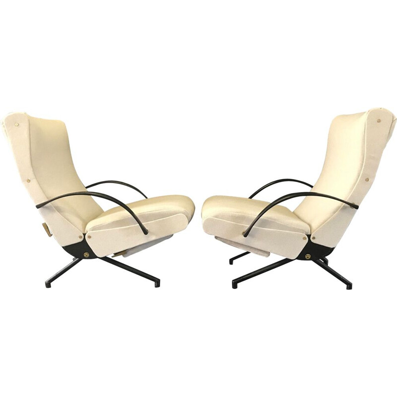 Pair of vintage armchairs P40 Osvaldo Borsani for Tecno 1954