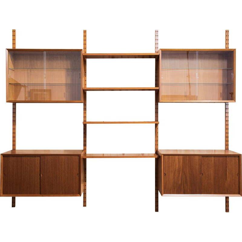 Vintage Cado wall system in teak by Poul Cadovius 1960s