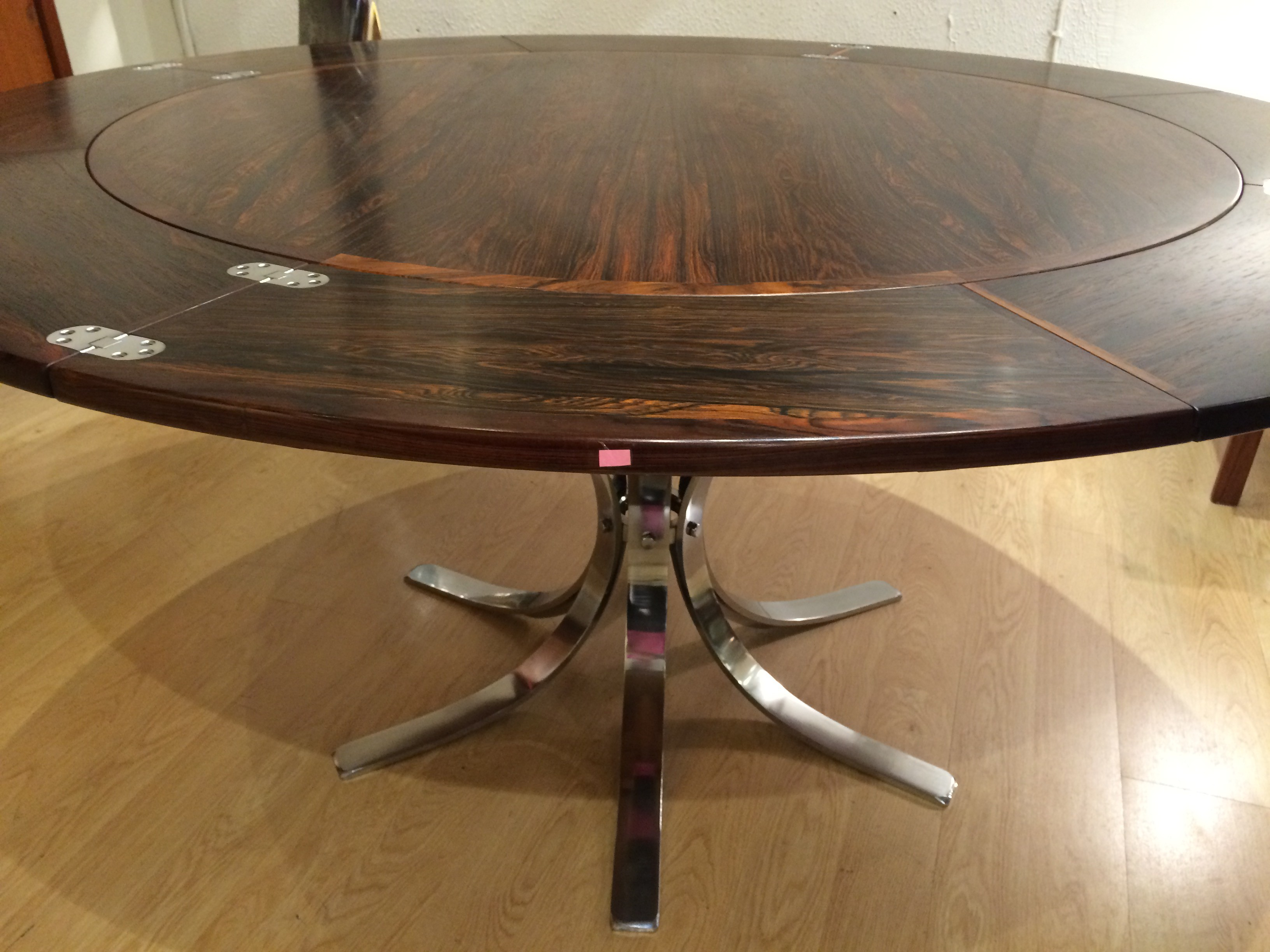 Original Dyrlund Extendable Table Flip Flap In Rosewood 1960s