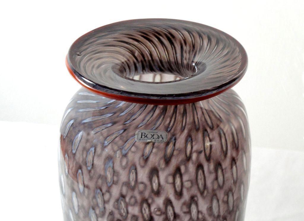 Kosta Boda Mauve Translucent Glass Vase Bertil Vallien