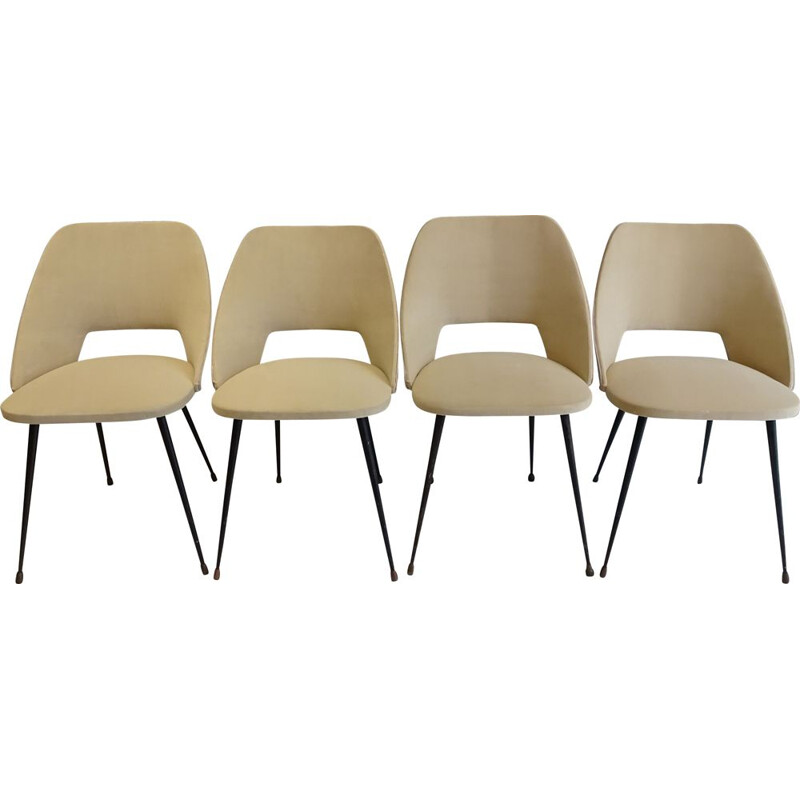 Set of 4 Tonneau chairs by Pierre Guariche