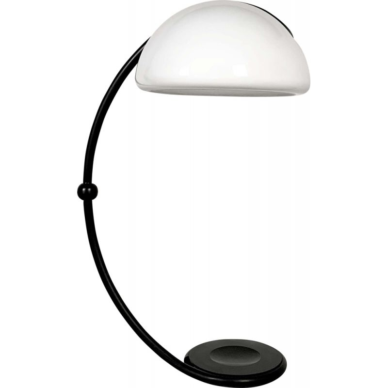 Vintage Black Serpente Floor Lamp by Elio Martinelli for Martinelli Luce, 1970s