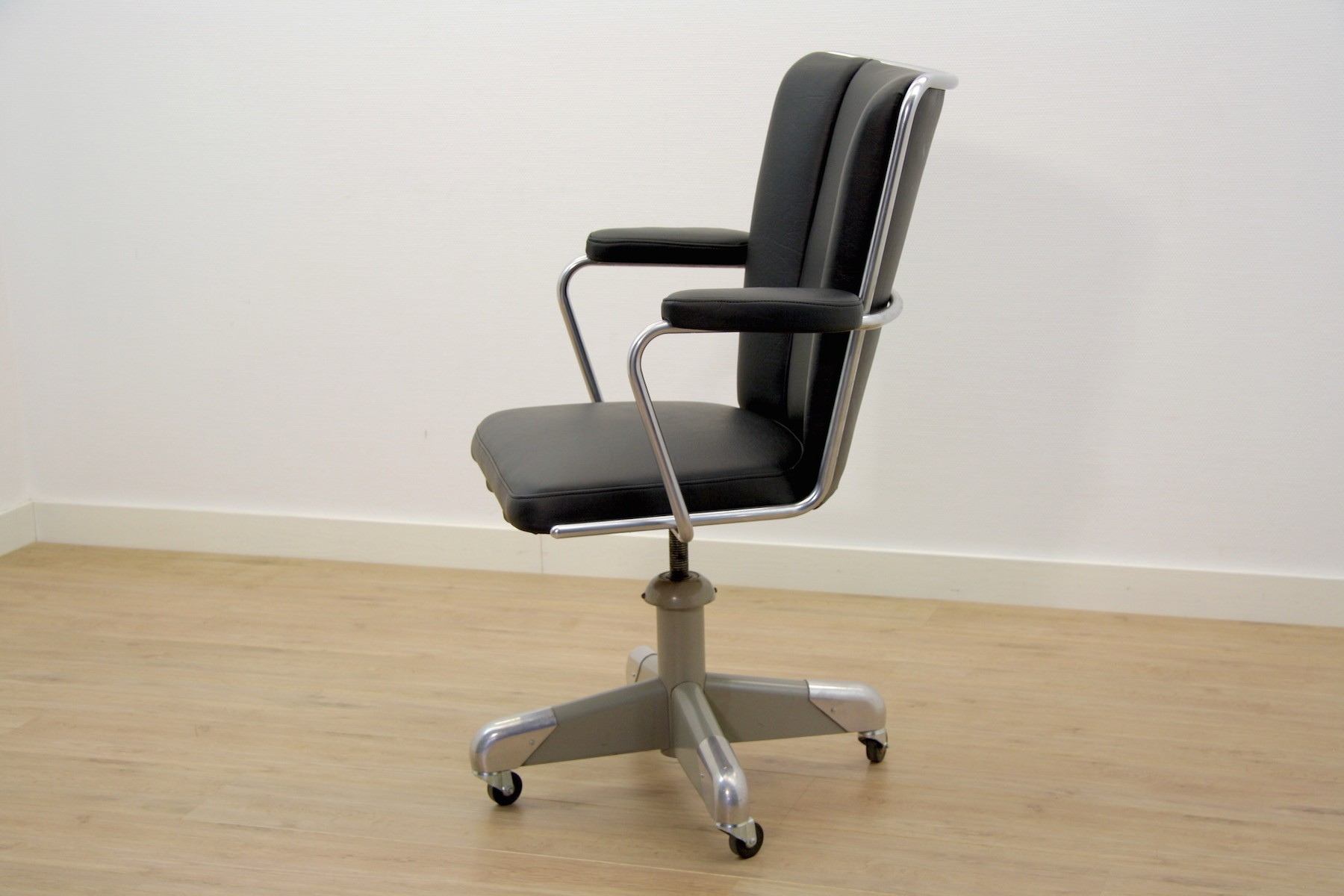president office chair black. Gispen President Desk Chair With Black Leather, C. HOFFMANN - 1950s. Previous Next Office D
