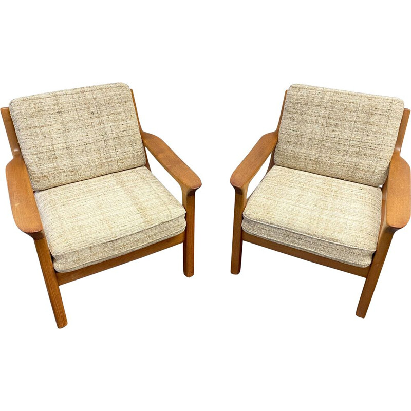 Pair of vintage Armchair by Juul Kristensen for Glostrup Dänemark 1960s