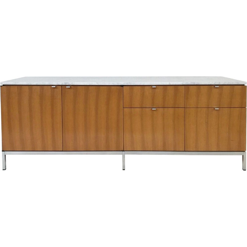 Vintage Florence Knoll sideboard with marble top