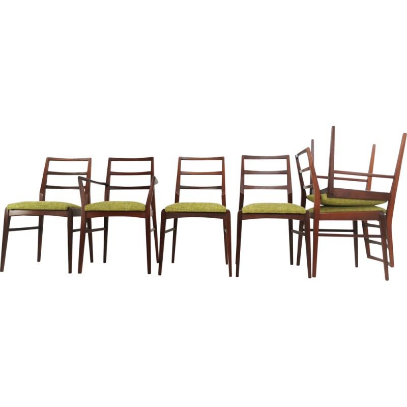 Set of 6 Afromosia Teak Dining Chairs By Richard Hornby For Fyne Ladye Mid Century 1960s