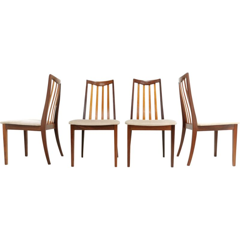 Set of 4 Vintage Teak Dining Chairs by Leslie Dandy for G-Plan, 1960s