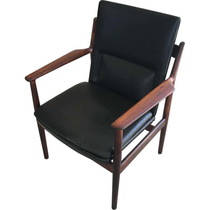 Vintage Rosewood Armchair by Sibast Furniture Arne Vodder  Danish 1960s
