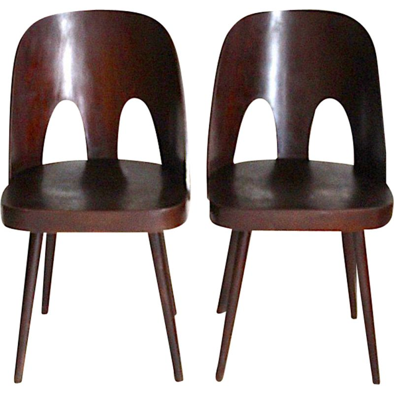 Pair of vintage dining chairs designed by Oswald Haerdtl, 1955
