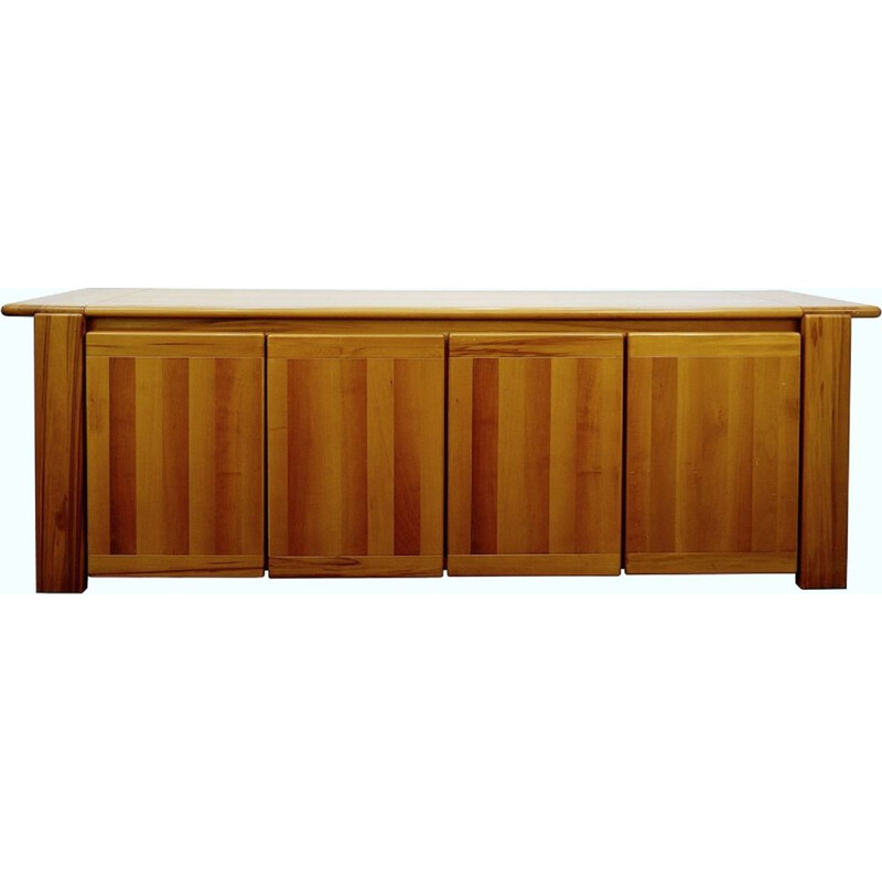 Vintage walnut sideboard by Afra & Tobia Scarpa - Italy 1980