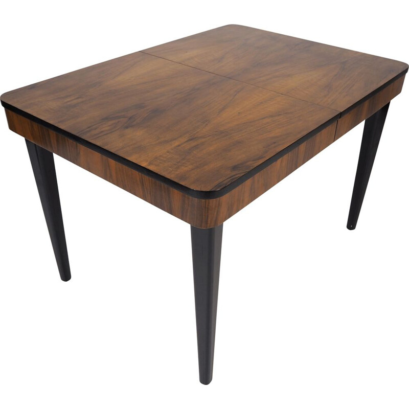 Vintage Side Table Walnut by Jindřich Halabala, 1950s