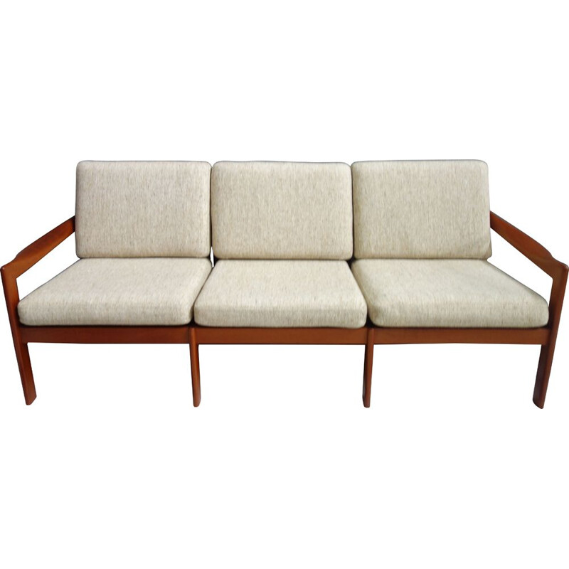 Vintage sofa for Niels Eilersen Illum Wikkelso Denmark 1960s