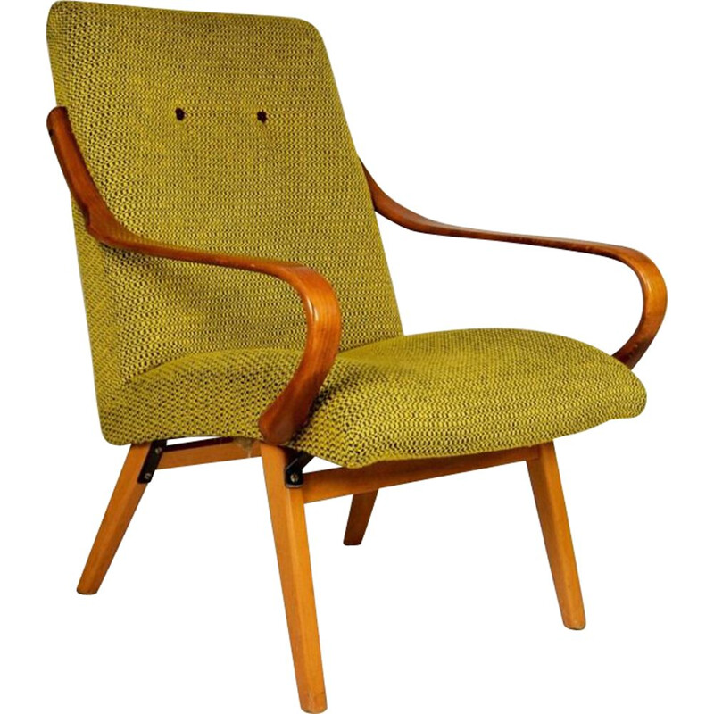 Vintage Armchair by Jaroslav Šmidek for Ton, Czech Republic, 1960s