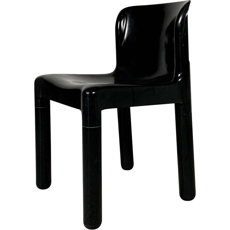 Vintage Plastic Chair Model 4875 by Carlo Bartoli for Kartell, 1970s