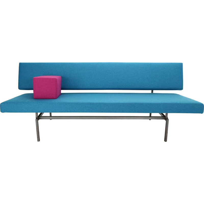 Vintage Gijs Van Der Sluis Streamline Blue Sleeper Sofa Daybed Model 540, 1961