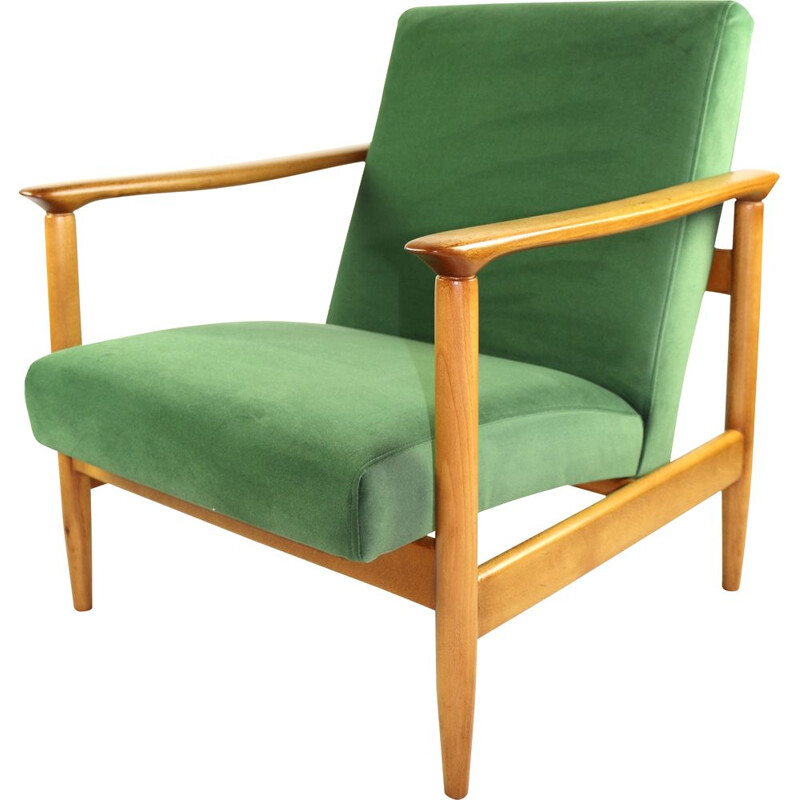 Vintage Green Armchair by Edmund Homa, 1970s