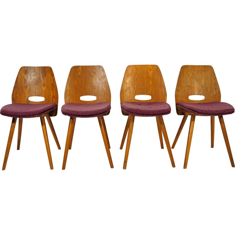 Set of 4 Vintage Chairs from Tatra Nábytok, 1960s