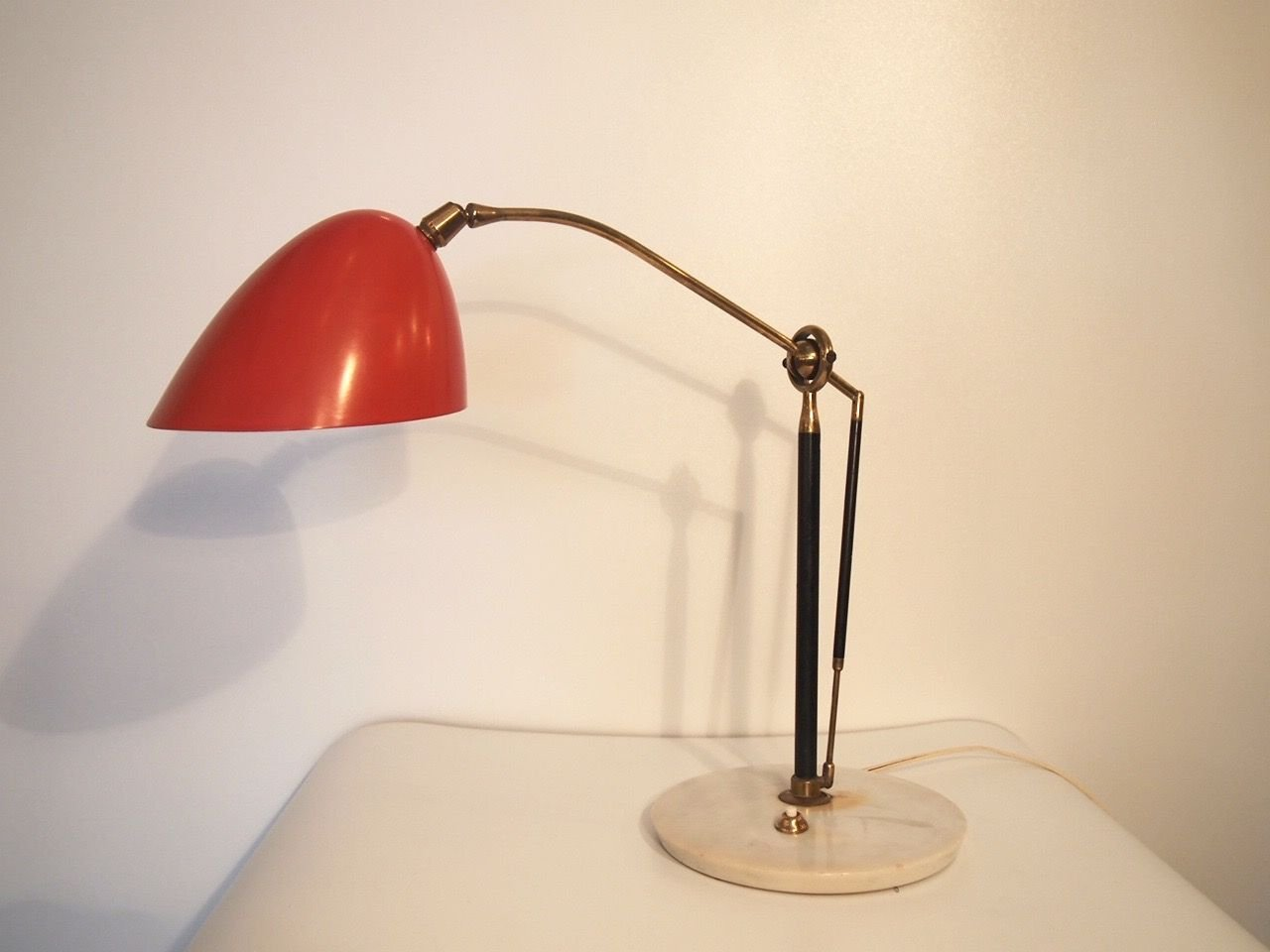 Vintage Table Lamp by Angelo Lelii for