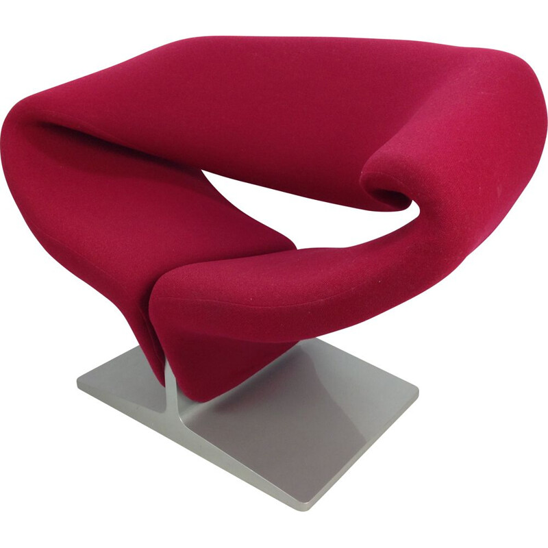 Vintage Ribbon Lounge Chair by Pierre Paulin for Artifort, 1980s