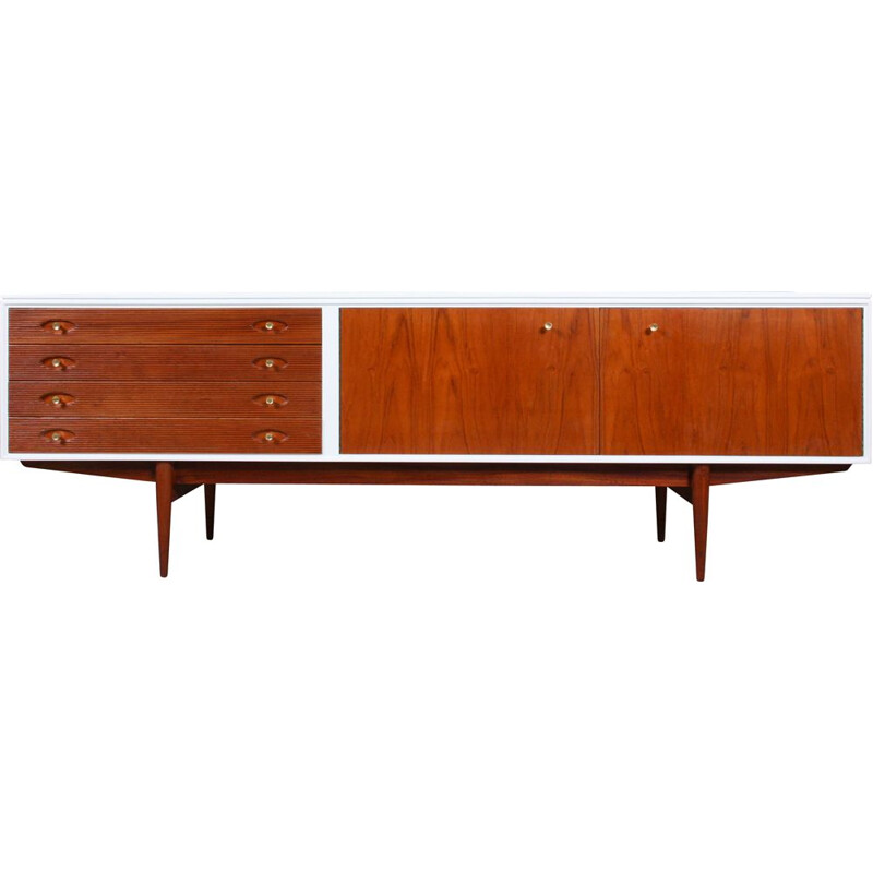 Vintage White and Teak Hamilton Sideboard by Robert Heritage for Archie Shine, 1950s