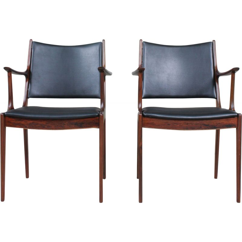 Pair of vintage Rosewood Dining Chairs by Johannes Andersen for Uldum Møbelfabrik, 1960s