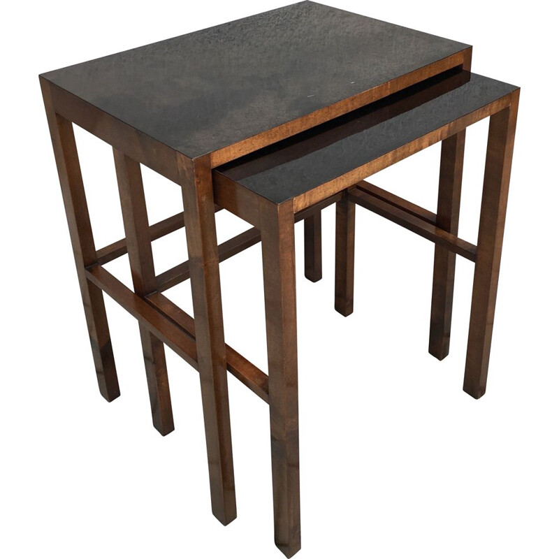 Set of Two Nesting Tables, Model No. 50, Designed by Jindrich Halabala, 1930s