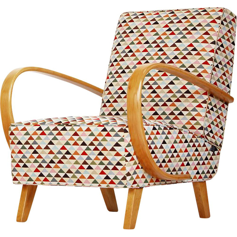 Vintage Armchair by Jindrich Halabala for Spojene UP Zavody, 1940s