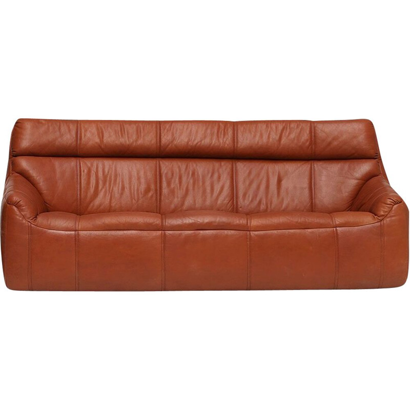Vintage leather sofa Rolf Benz 1970s