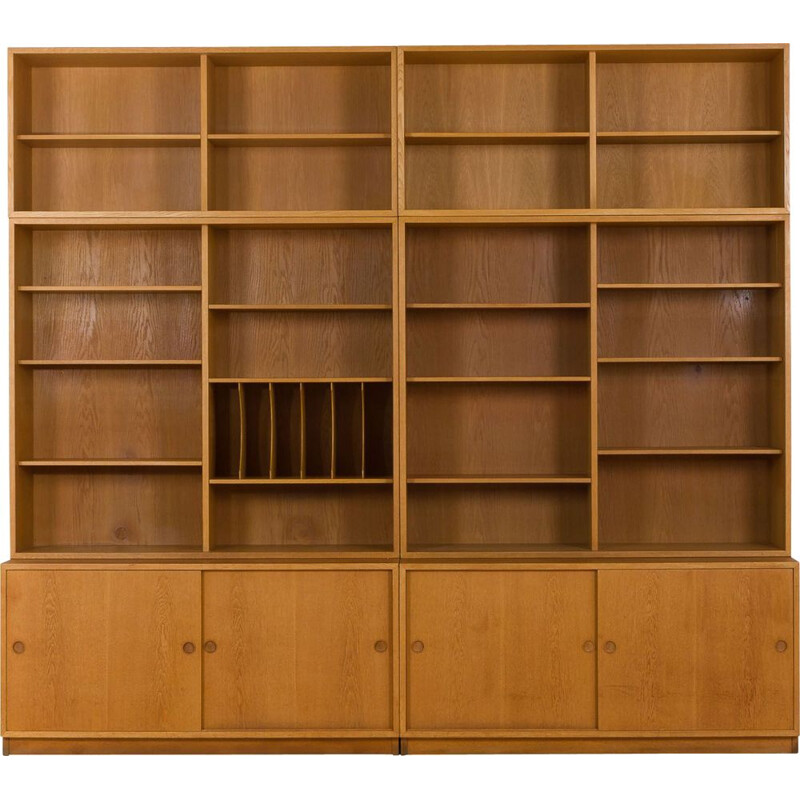Vintage Modular oak shelving unit by Borge Mogensen for Karl Andersson&Soner
