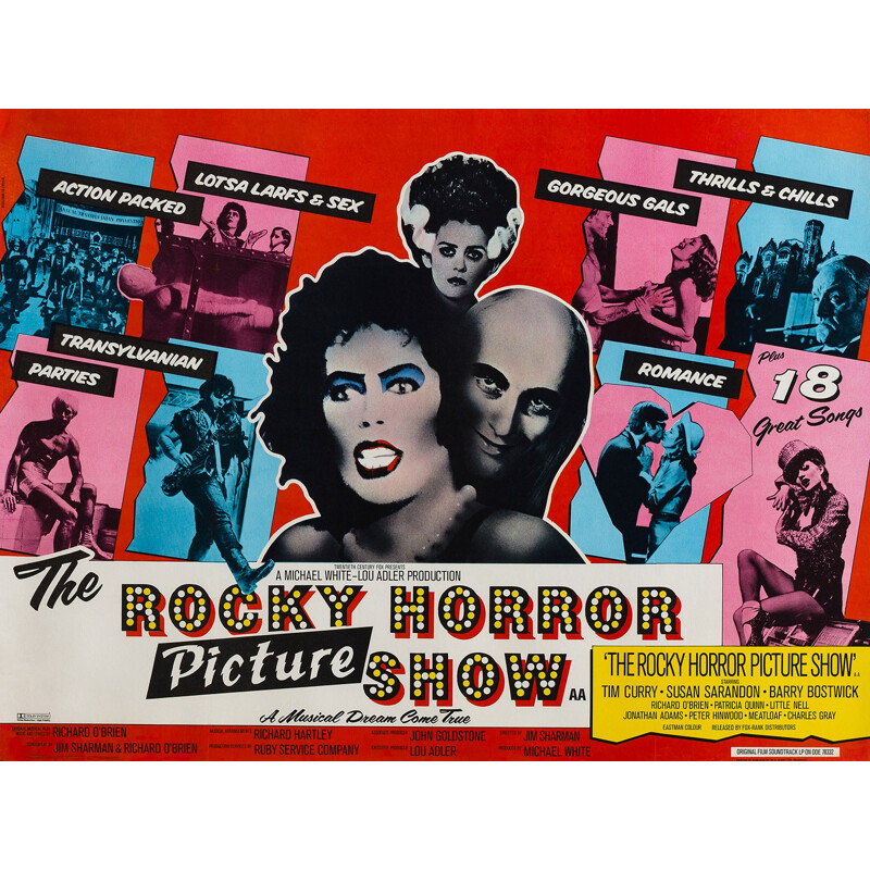 "British ""The Rocky Horror Show"" movie poster, John PASCHE - 1975"
