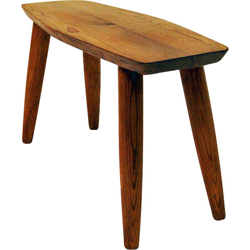 Vintage Pine stool by B. Edvinsson Swedish 1964