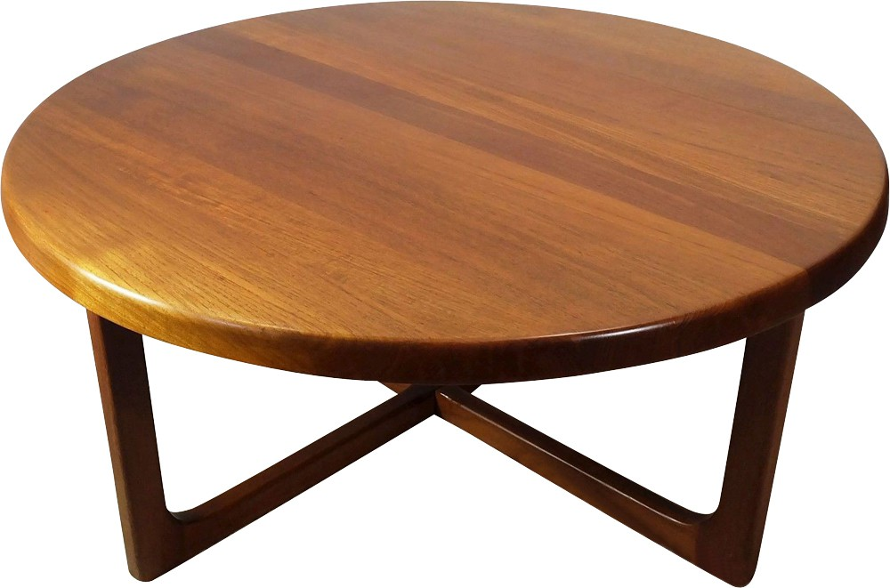 Scandinavian teak coffee table, Niels BACH - 1960s ...