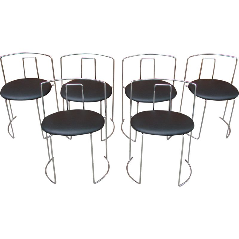 Set of 6 chairs vintage Italy 1970s