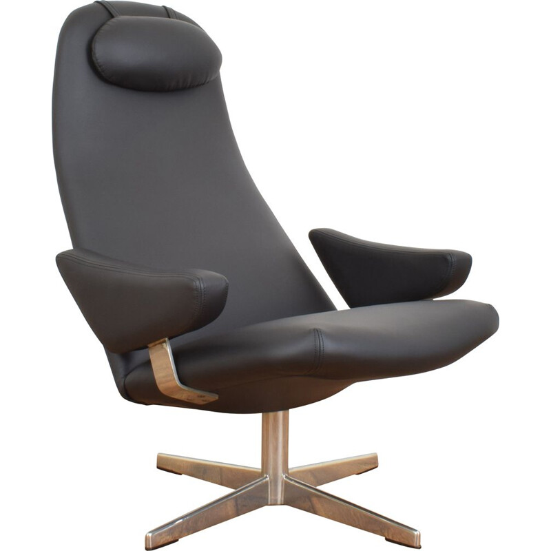 Mid-Century Contourette Roto Swivel Chair by Alf Svensson for Dux, 1960