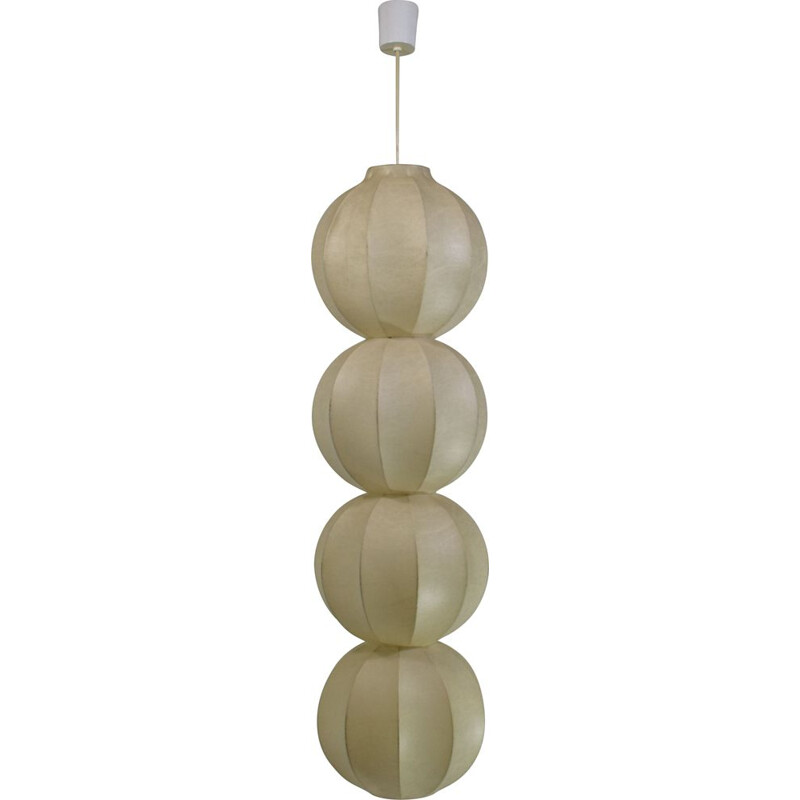 Vintage suspension Kattala cocoon , Friedel Wauer for Goldkant Leuchten 1960