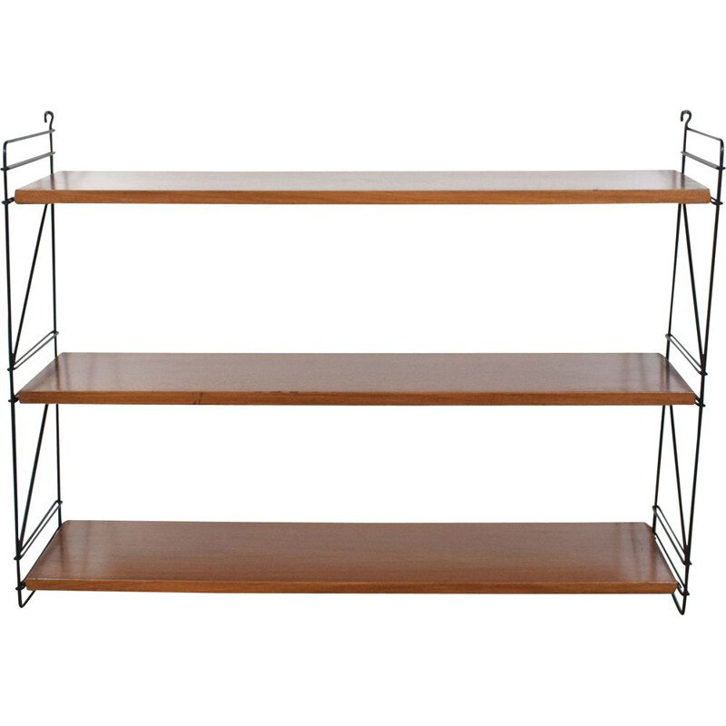 Vintage modular wall shelf Tomado, Scandinavian G-string 1960